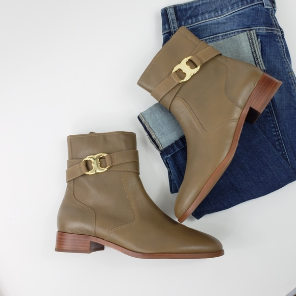 495a6afeb4fb Tory Burch Gemini Leather Ankle Boots